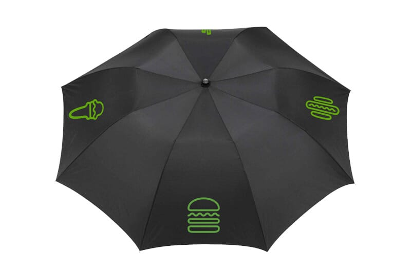 Far image of umbrella opened.
