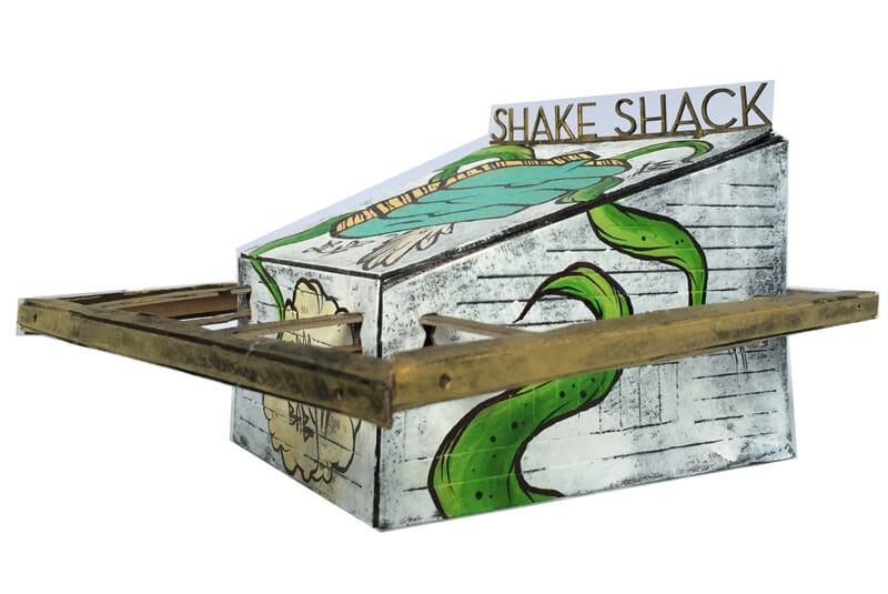 Image of the side of the Shack.