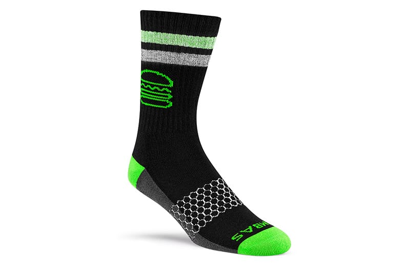 Image of sock showing how it would look with a foot in it.