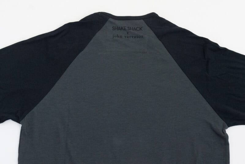Detailed image of the back of the shirt.