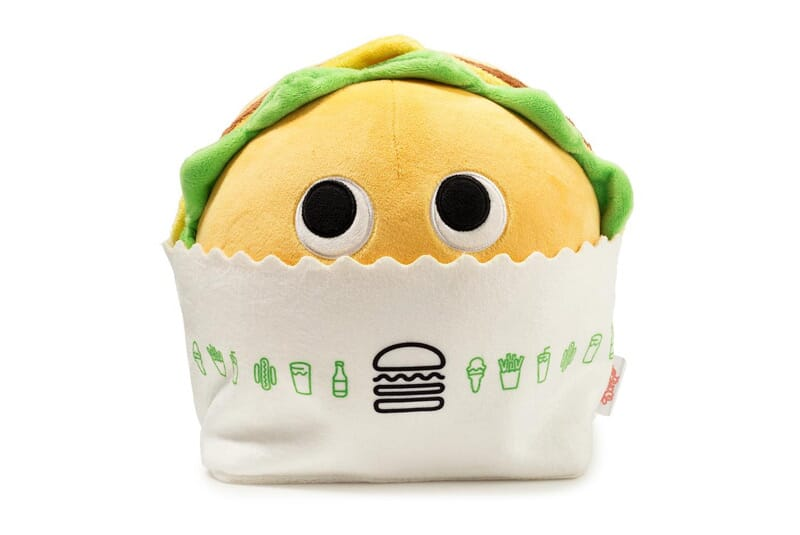 Front image of burger plush.