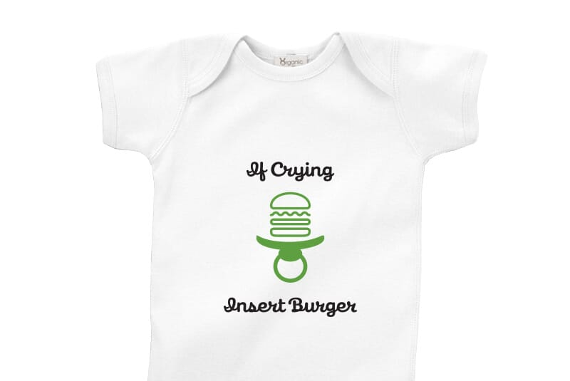 Image for Insert Burger Bodysuit