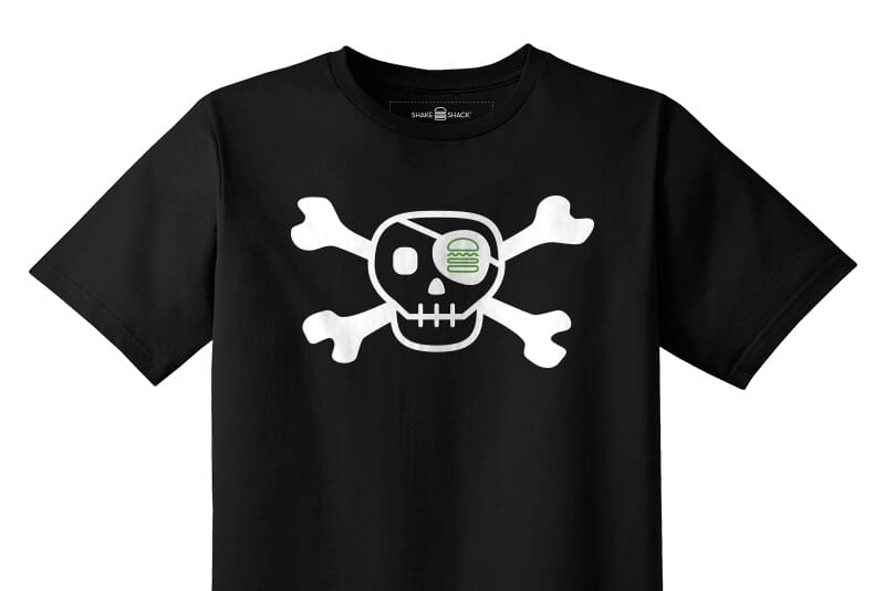 Detailed image of the Skull and Bones Youth tee.