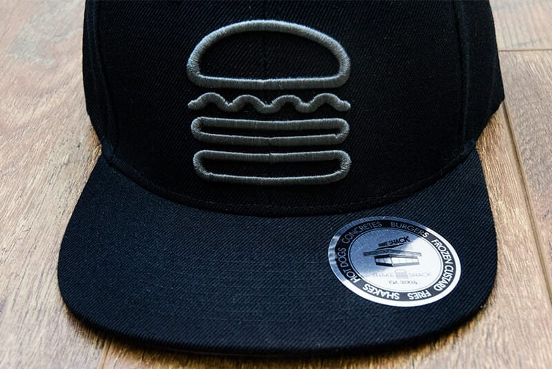 Close front shot of Snapback.