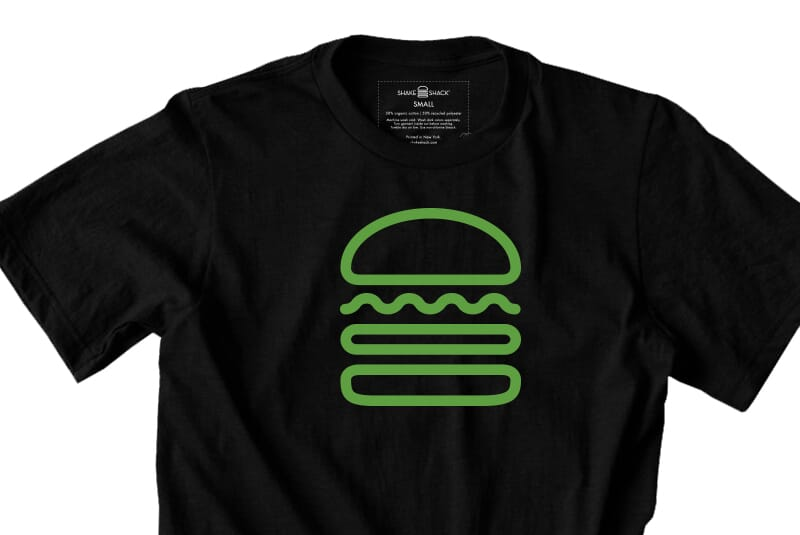 Detailed image of the Black Burger tee.
