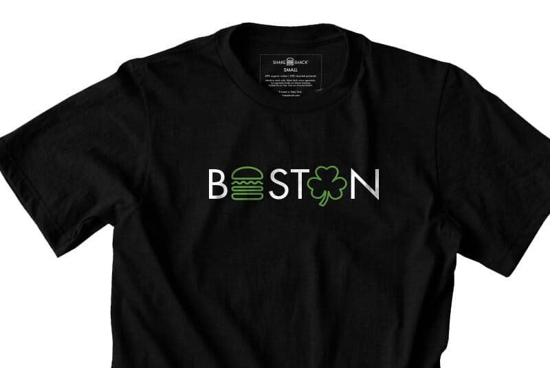 Detailed image of the Boston tee.