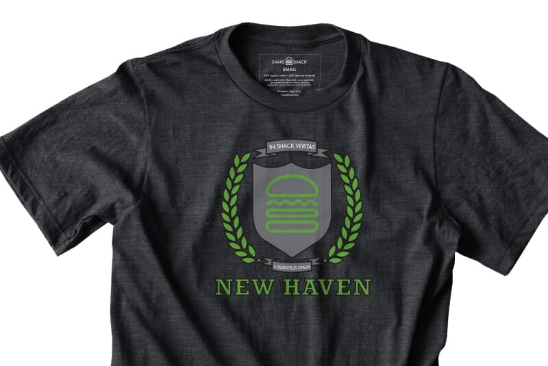 Detailed image of the New Haven tee.