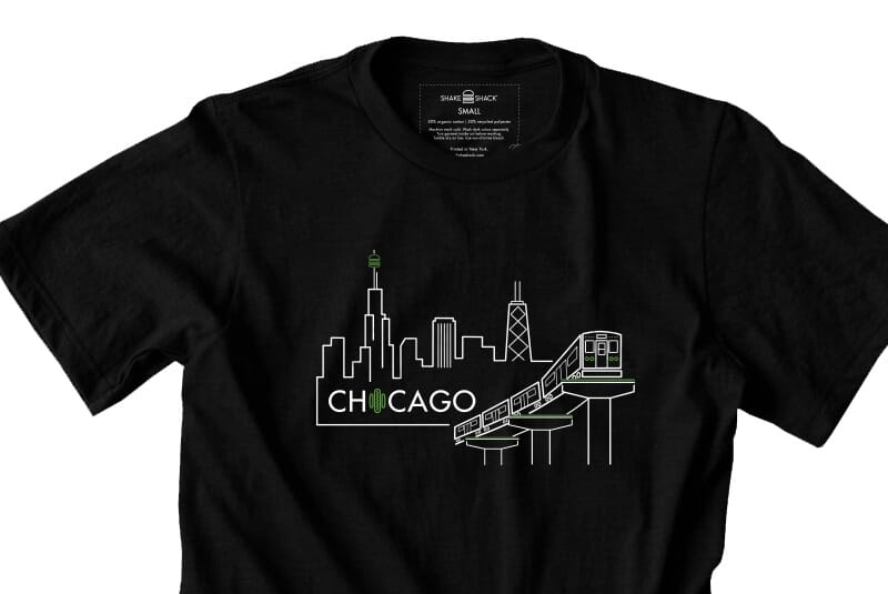 Detailed image of the Chicago tee.