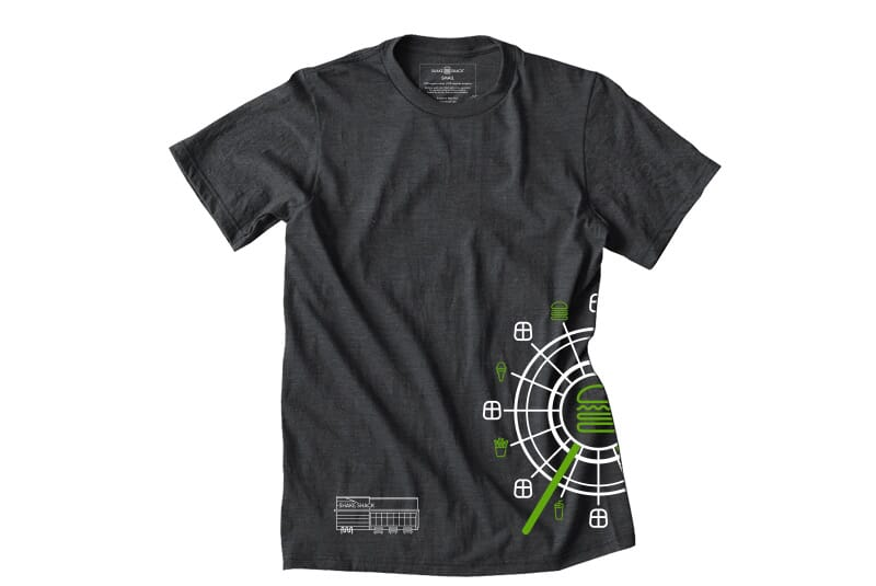 Full front image of the I-Drive tee.