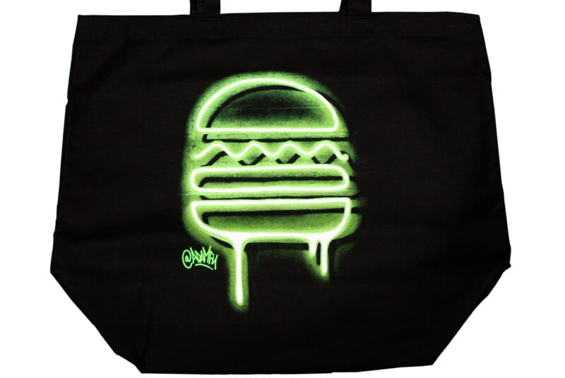 Close up image of the tote